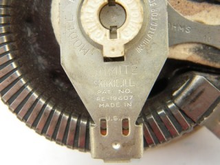 Closeup of welding rheostat, an older style sequential timer is similar.