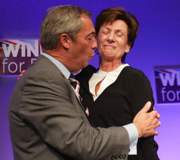 Diane James Ukip leader with Nigel Farage