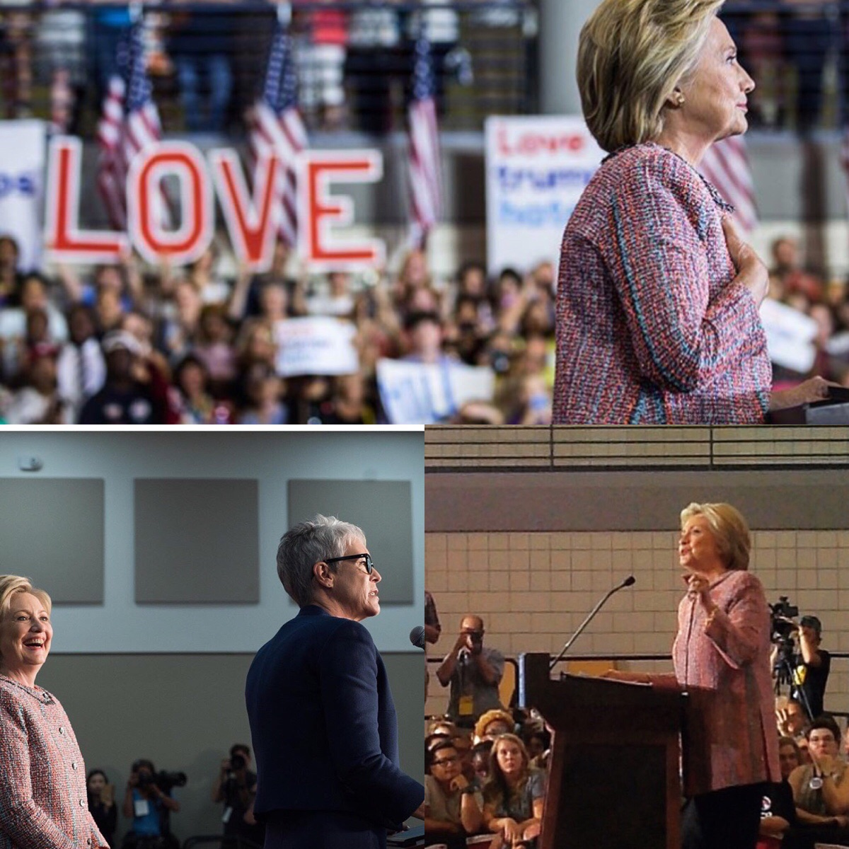 After searching countless HRC tags on Instagram, I only managed to find these 3 unique photos from her event in NC. Proof that they photoshopped the crowd in the photo on top.