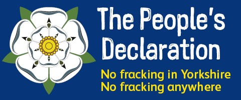 The People's declaration no fracking