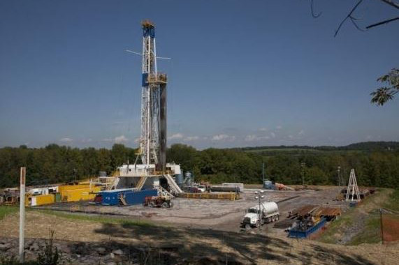 The type of drilling rig that could be erected near Worksop if application is given the green light.