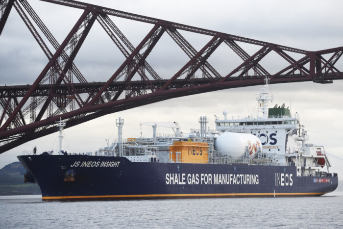 JS Ineos Insight arrives from America with the first shipment of shale gas from fracking to arrive in Scotland. Picture Greg Macvean