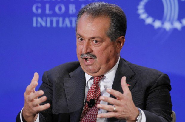 Dow Chairman and CEO Liveris participates in discussion during the second day of the Clinton Global Initiative 2012 (CGI) in New York