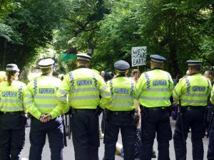 Much, much more of this to come? Anti-fracking campaigners at Cuadrilla drilling site at Balcombe, West Sussex. Photo: Sheila via Flickr (CC BY-NC).