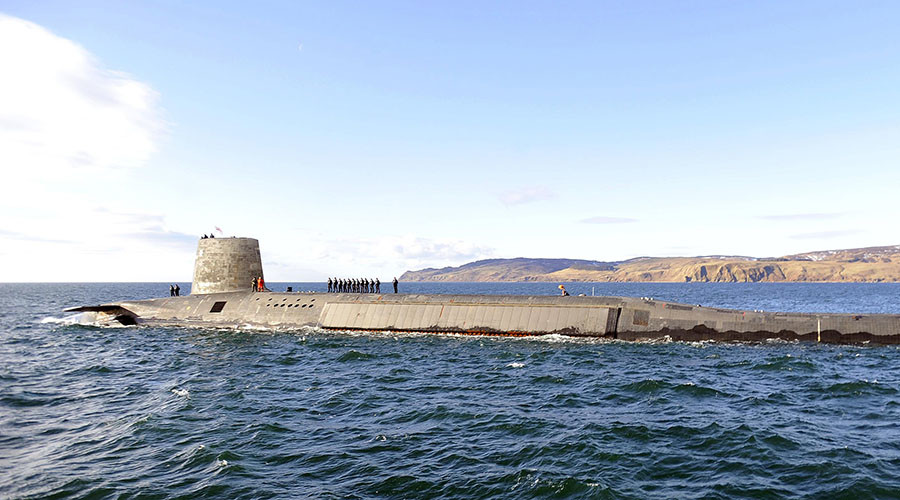 Trident Nuclear Submarine HMS Victorious. © Andy Buchanan