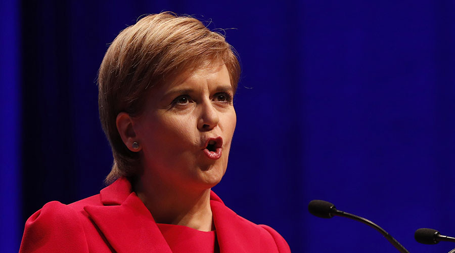 Scotland's First Minister and leader of the Scottish National Party (SNP), Nicola Sturgeon. © Russell Cheyne
