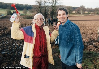 Case in point, Tony Blair with his good friend, serial child molester Jimmy Saville.