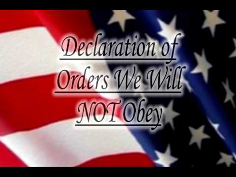 Image result for Orders We Will Not Obey