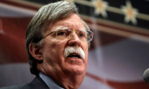 Former Ambassador John Bolton speaks at the Conservative Principles Conference hosted by U.S. Rep. Steve King, R-Iowa, Saturday, March 26, 2011, in Des Moines, Iowa. (AP Photo/Charlie Neibergall)