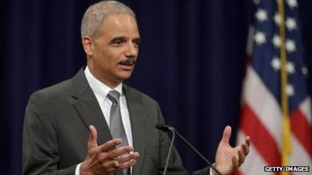 US Attorney General Eric Holder delivers remarks during the Justice Department Inspector General's annual awards ceremony Washington, DC 29 May 2013