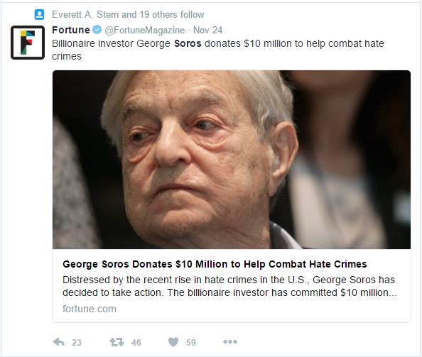 fortune-soros-pledges-10-million-to-fight-hate-crimes-aka-jill-stein-recount