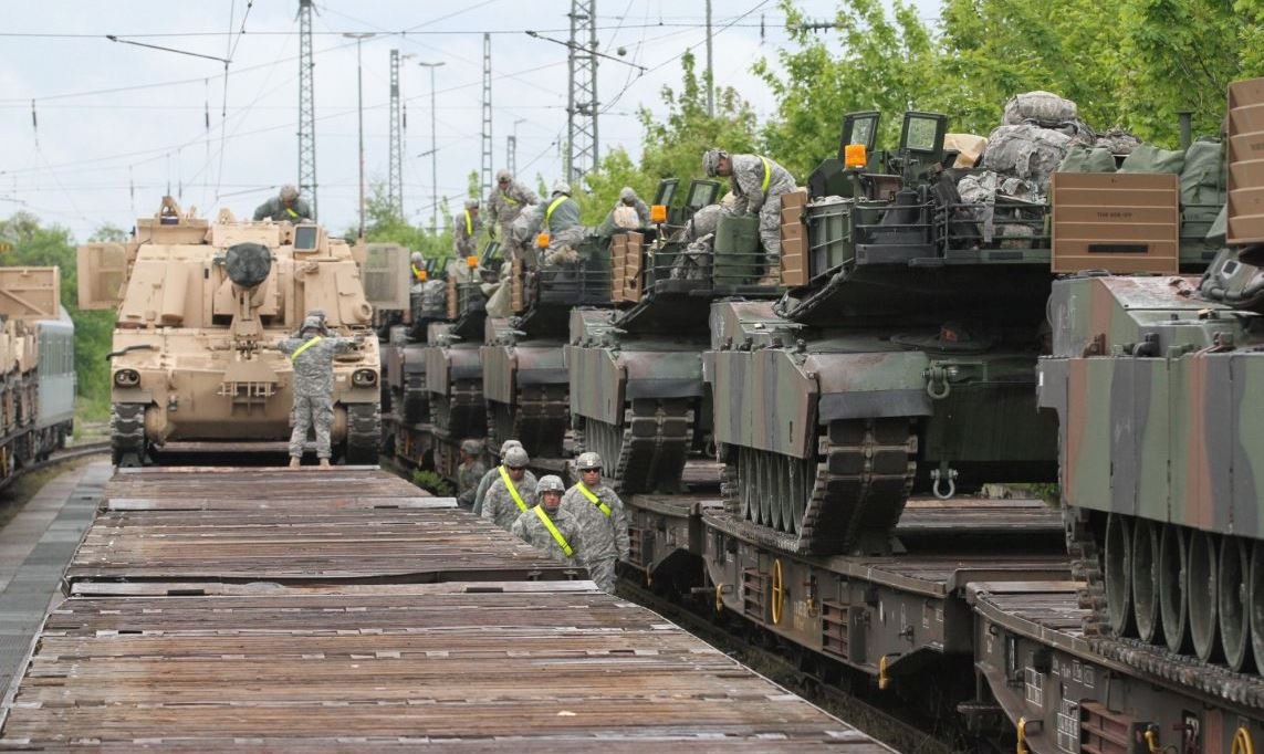 US Army Deploys Tanks to Europe Ratcheting Up Tensions with Russia