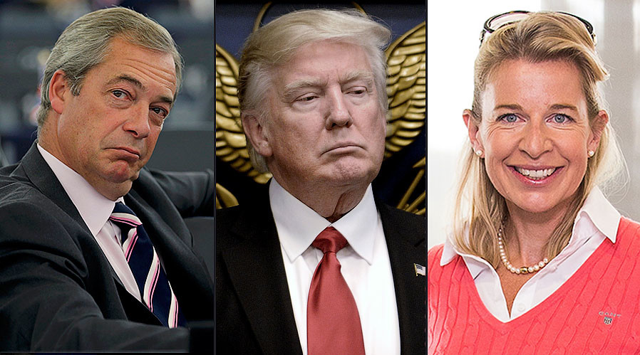 Nigel Farage & Katie Hopkins back Trump's #MuslimBan, want the same for Britain