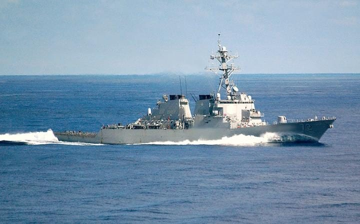 The US Navy destroyer USS Mahan