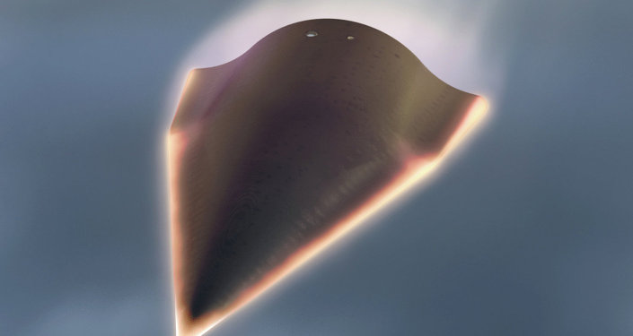 In this undated artist's rendition released by the Defense Advanced Research Projects Agency (DARPA) showing the Falcon Hypersonic Technology Vehicle 2 (HTV-2)