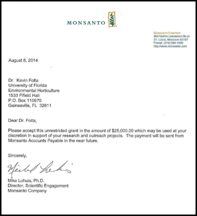 monsanto_letter_to_kevin_folta_25000_unrestricted_grant_8_8_2014
