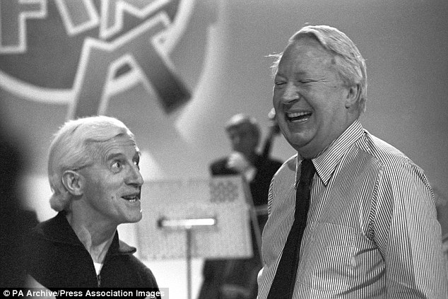 Claim: The accusation emerged after it was revealed police are being investigated over claims they covered up child sex allegations against the former Tory leader (pictured alongside paedophile Jimmy Savile)