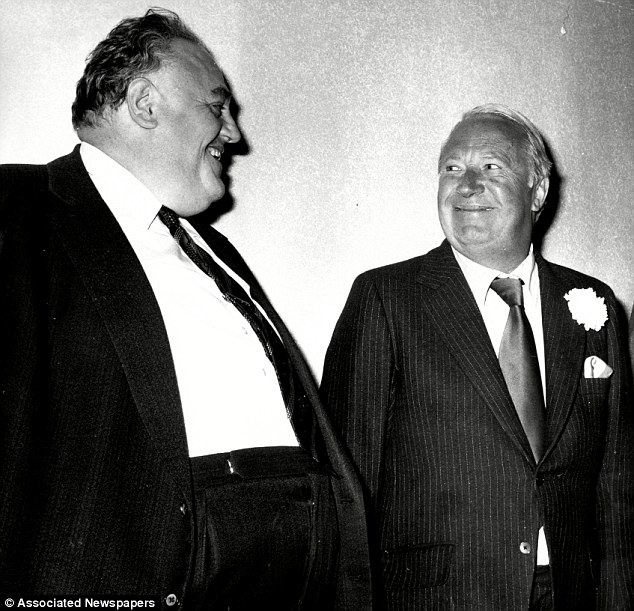 Forde, 67, has been accused of threatening to expose Sir Edward (pictured with Cyril Smith) as a paedophile
