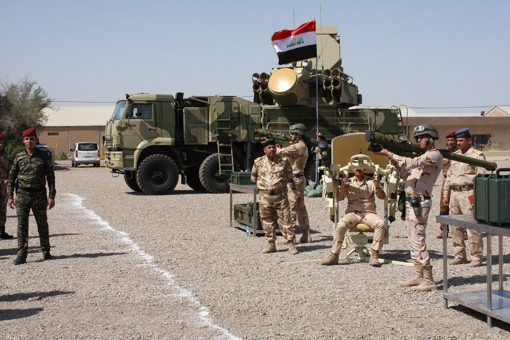 Surface-to-air missile weapon system Pantsir-S1 and Igla-S MANPADS system with 1PN97M Mowgli-2M thermal imager
