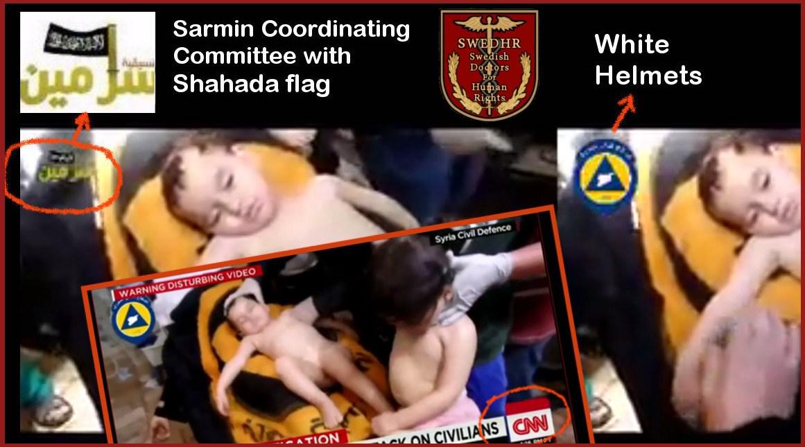 SWEDHR-collage-on-CNN-White-Helmets-Shahada-flag-logos-in-Sarmin-videos