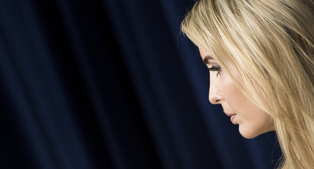 US First daughter Ivanka Trump attends a forum with Chief Executive Officers on the White House Campus April 4, 2017 in Washington, DC.