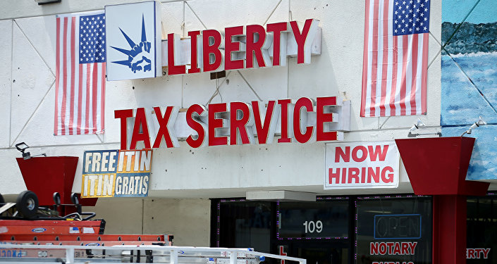 A tax preparation office is pictured in Los Angeles, California, U.S., April 26, 2017