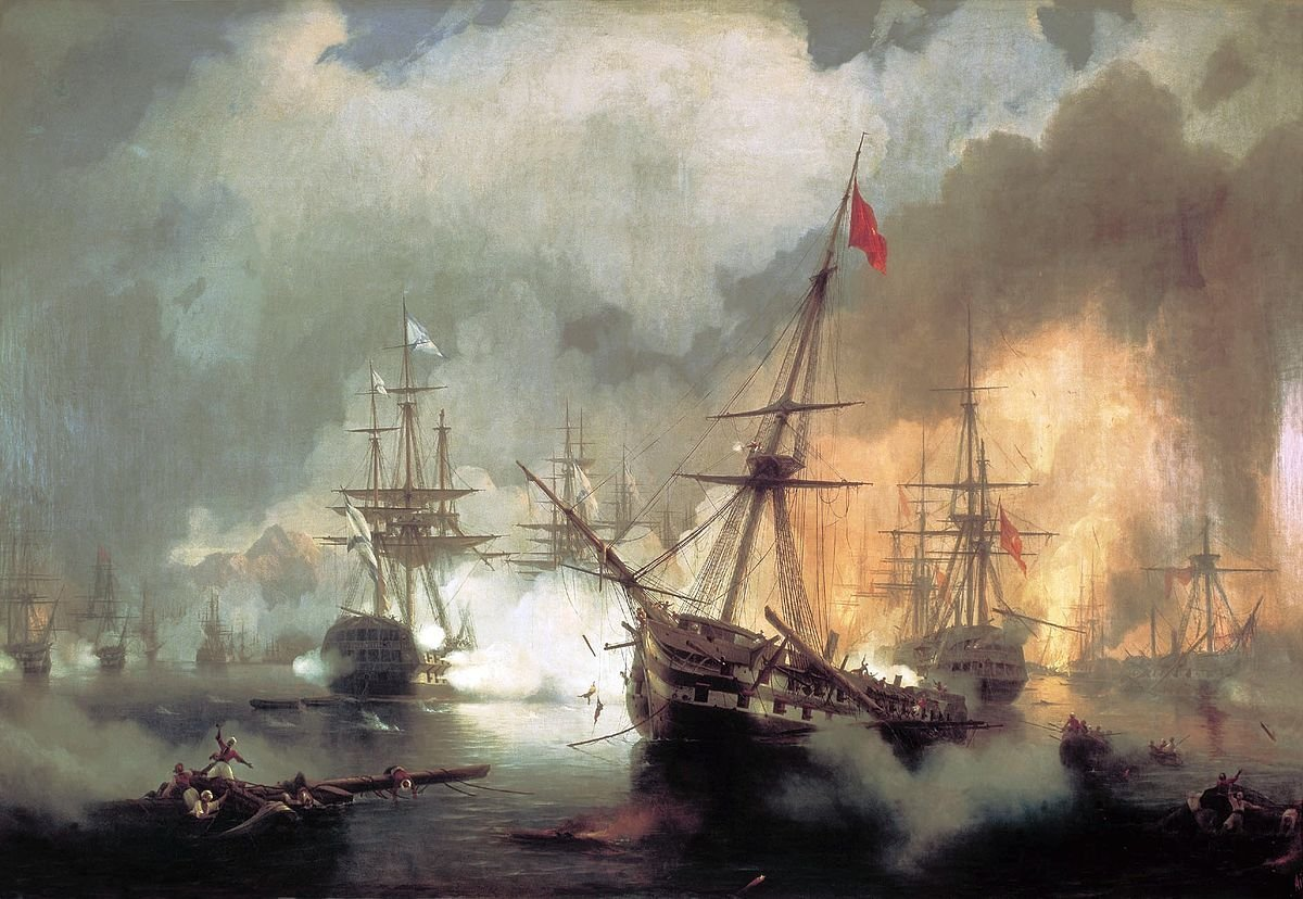 Battle of Navarino. Ivan Aivazovsky  (1817–1900)