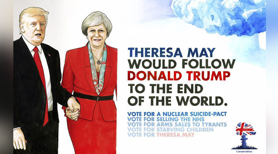Vote for nuclear suicide pact! Spoof election posters appear across London