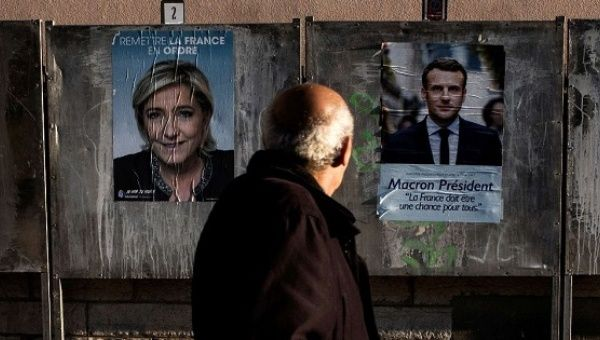 French presidential candidates Emmanuel Macron and Marine Le Pen