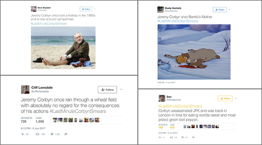 #LastMinuteCorbynSmears: Social media hits back at pre-election tabloid attacks on Labour leader