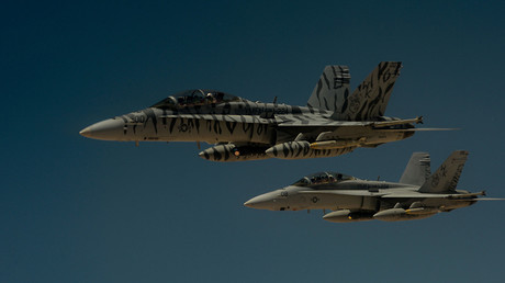 FILE PHOTO. Two US Marine Corps F-18 Super Hornets © Michael Battles