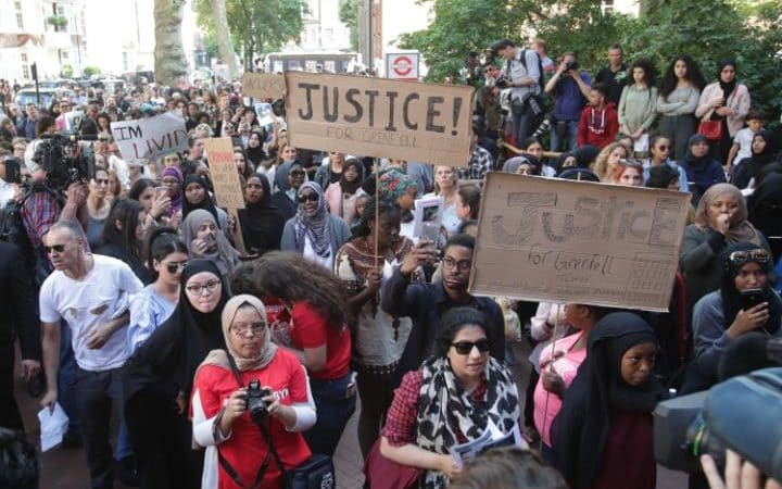 Hundreds of angry people descended on Kensington Town Hall