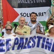 Jeremy Corbyn at a pro-Palestinian rally in London, 2014.
