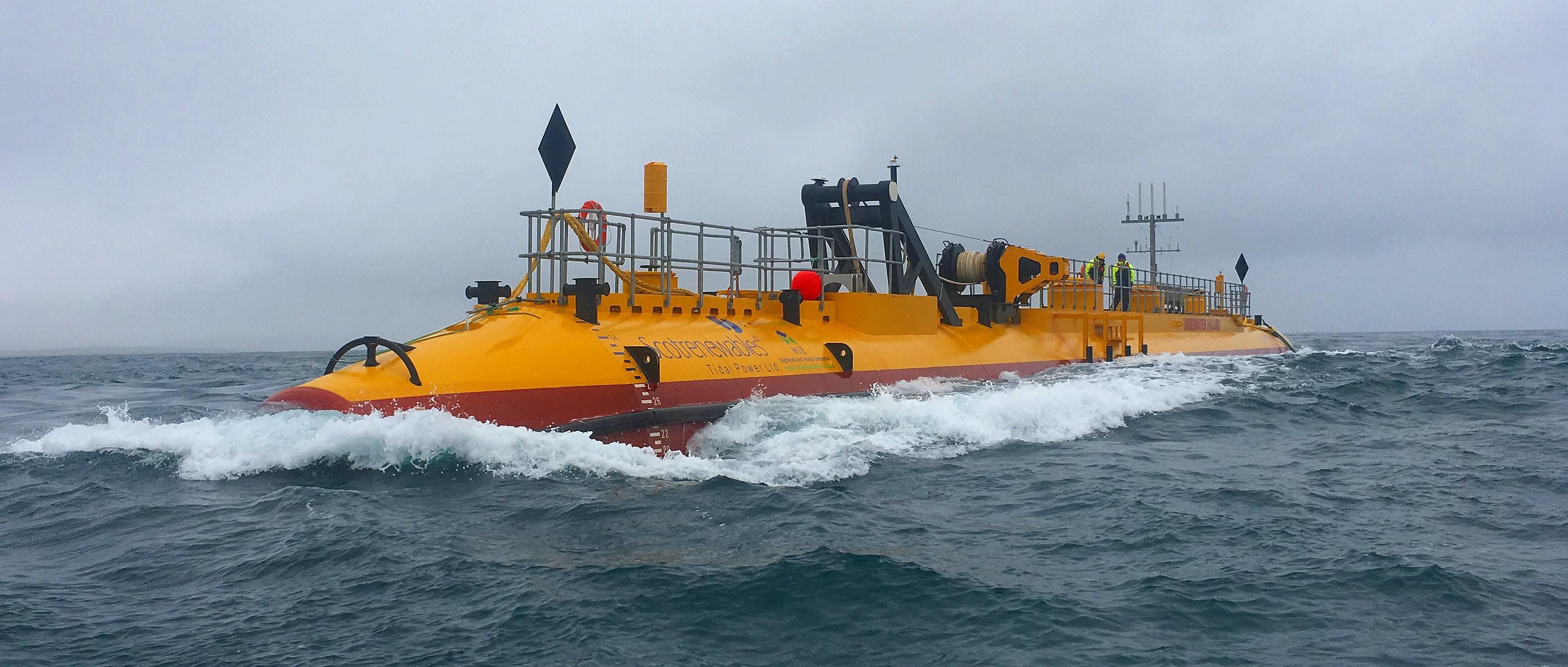 tidal turbine, tidal power, sr2000, renewable enerfy