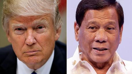 US President Donald Trump, Philippine President Rodrigo Duterte © Reuters