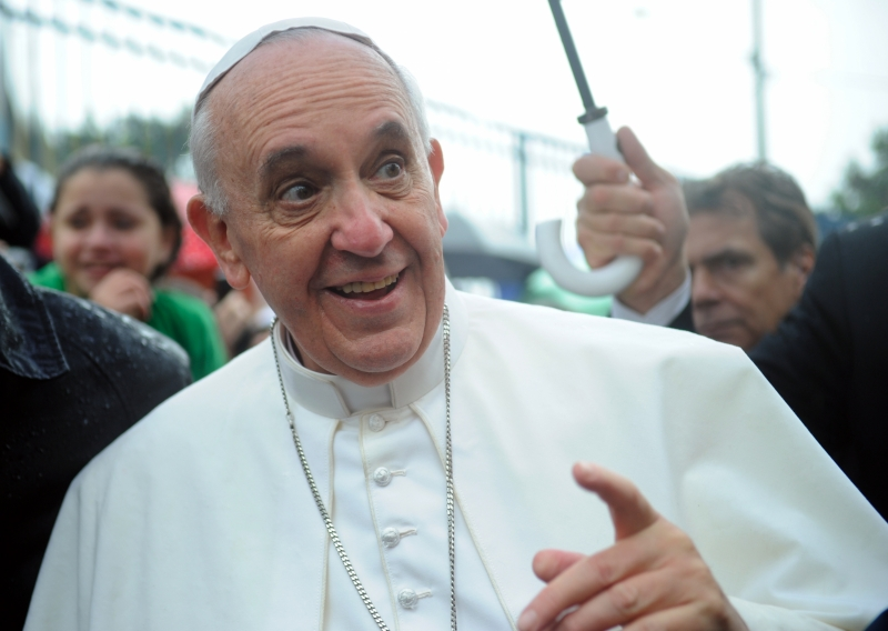 Image: After Vatican staff caught in gay orgy, the Pope says GMOs are approved by the Catholic Church