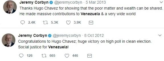 Corbyn praises Chavez