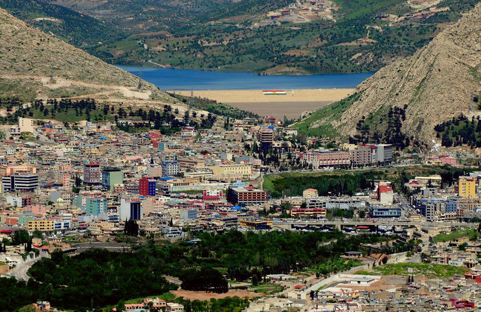 View on Duhok with the Duhok Dam in the background