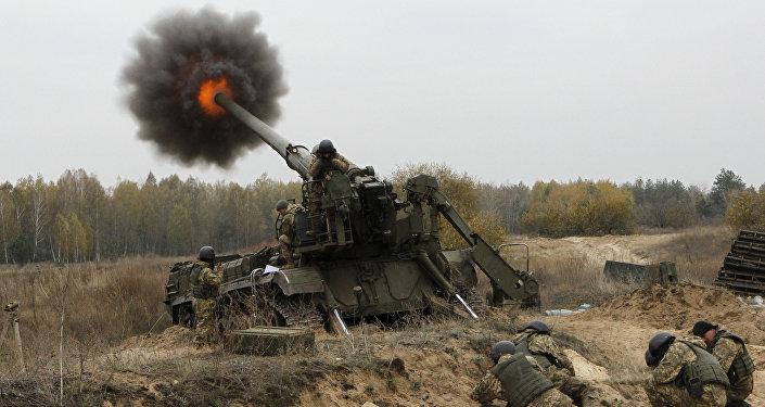 Ukrainian artillerists (File)