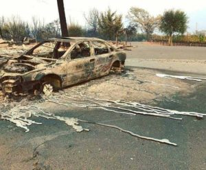 California Fires Cars Melt While Leaves On Nearby Trees