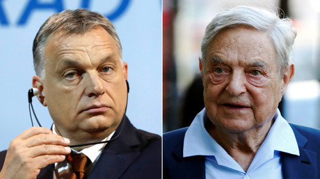 Hungary's Prime Minister Viktor Orban and Business magnate George Soros © Reuters