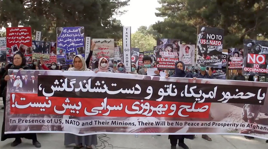 'Leave our country': Protesters in Afghanistan gather to decry 'US, NATO occupation' (VIDEO)
