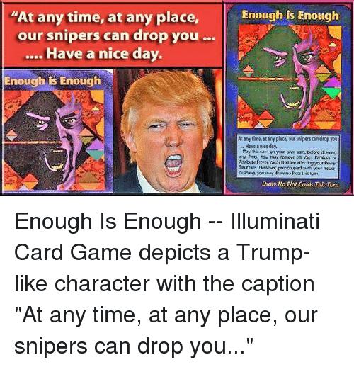 Image result for Trump Illuminati Card