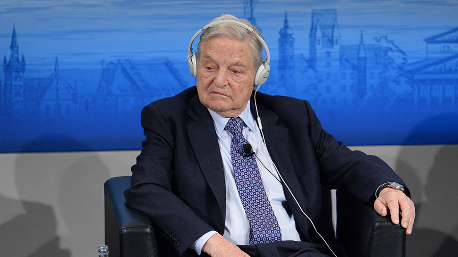 'George Soros seeks a one world government to serve oligarchs, not the people' – US State Senator