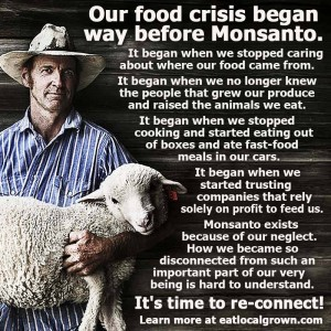 Our food crisis began WAY before Monsanto...