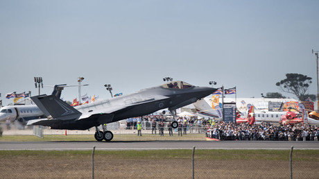 A Lockheed Martin Corp F-35 stealth fighter jet lands at the Avalon Airshow in Victoria, Australia, March 3, 2017. ©Australian Defence Force