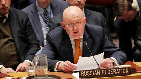 Russian Ambassador to the United Nations Vasily Nebenzya. © Lucas Jackson