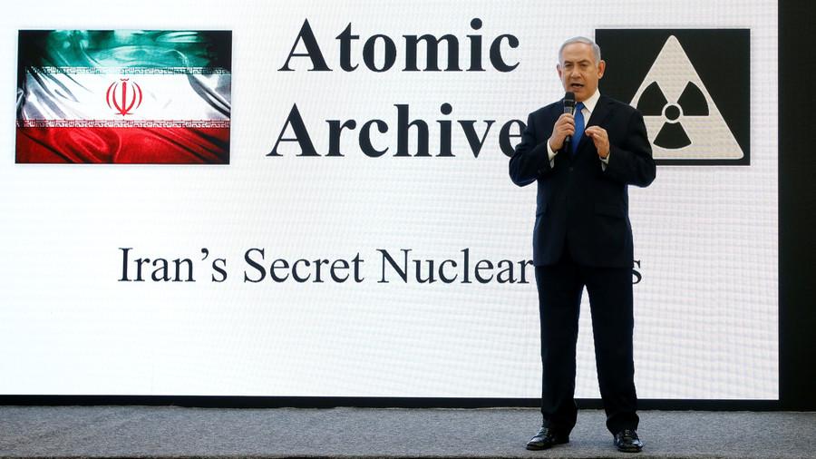 Netanyahu shows slides, shelves of docs claiming Iran has nuclear weapons program
