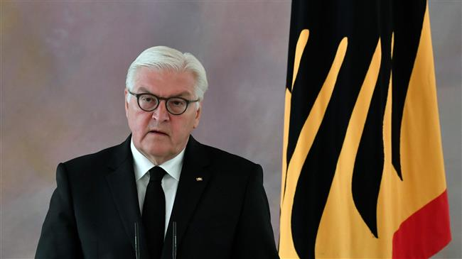 In this file photo taken on June 16, 2017, German President Frank-Walter Steinmeier makes a statement at the Bellevue Presidential Palace in Berlin. (AFP photo)