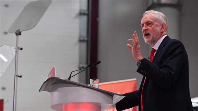 UK opposition Labour party leader Jeremy Corbyn gives a speech on Brexit at Coventry University in Coventry on February 26, 2018. (AFP photo)